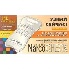 Тест-мультипанель NARCOCHECK для выявления 5 видов наркотических в-в по моче
