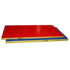 Мат гимнастический гп-50-1 (1*2*0,1м) трехцветный