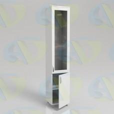 Шкаф для документов ЛДСП одностворчатый ШД1 на опорах 2100х400х400мм